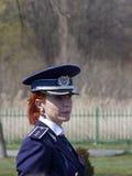 Vrouwenpolitieman Stock Afbeeldingen