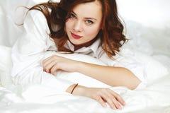 Vrouwenportret Stock Foto's