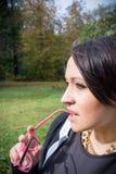 Vrouwenportret met glazen II Stock Fotografie