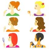 Vrouwenprofiel stock illustratie