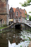 Vrouwenregt in historical town Delft, Holland Royalty Free Stock Photography