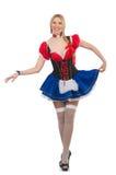 Vrouwenserveerster in het meest oktoberfest Royalty-vrije Stock Foto's
