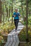 Vrouwensleep het lopen Stock Foto