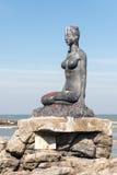 Vrouwenstandbeeld in Praia Grande Brazilië Royalty-vrije Stock Afbeelding