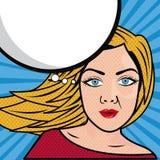 Vrouwenstrippagina vector illustratie