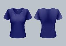 Vrouwent-shirt Stock Afbeeldingen
