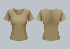 Vrouwent-shirt Stock Foto's