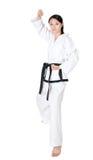 Vrouwentaekwondo Royalty-vrije Stock Afbeeldingen