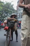 Vrouwenverkoper, Hanoi, Vietnam Stock Fotografie