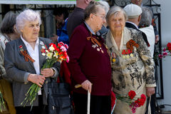 Vrouwenveteranen van Grote Patriottische Oorlog Royalty-vrije Stock Foto