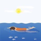 Vrouwenwho zwemt Stock Foto's