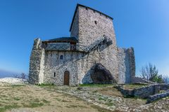 Vrsac town fortress in Serbia. Called kula. Landmark architecture on Vojvodina district Royalty Free Stock Image