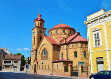 Vrsac town romanian church Stock Photo