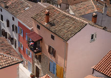 Vrsar, Croatia - rooftops. View from the belltower Royalty Free Stock Photos
