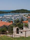 Vrsar harbor. Port in Istrian town Vrsar, Croatia Royalty Free Stock Image