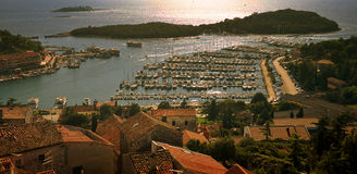 Vrsar harbor Royalty Free Stock Photography