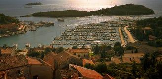 Vrsar harbor. Vrsar - Istra, Croatia aerial view Royalty Free Stock Photography
