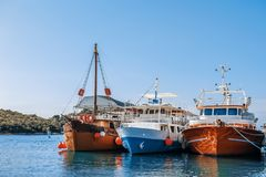 Vrsar harbour on the Adriatic sea in Istria, Croatia.  royalty free stock images