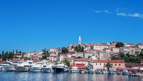 Vrsar harbour on the Adriatic sea in Istria, Croatia.  royalty free stock photos
