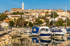 Vrsar Port And Village-Istria,Croatia royalty free stock photo