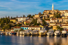 Vrsar Port And Village During Sunset-Croatia royalty free stock photos