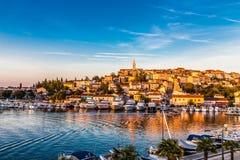 Vrsar Port And Village During Sunset-Croatia stock photos