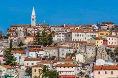 Vrsar Village With Church Tower-Istria,Croatia Stock Images