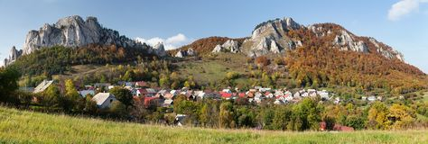 Vrsatec and Vrsatecke Podhradie village - Slovakia Royalty Free Stock Photos