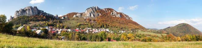 Vrsatec and Vrsatecke Podhradie village - Slovakia Royalty Free Stock Photography