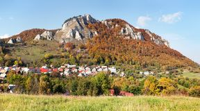 Vrsatec and Vrsatecke Podhradie village - Slovakia Stock Photos