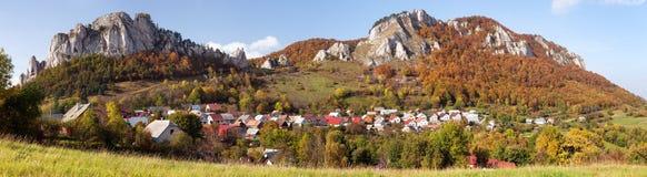 Vrsatec and Vrsatecke Podhradie village - Slovakia Stock Images