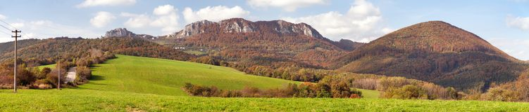 Vrsatec and Vrsatecke Podhradie village - Slovakia Stock Photos