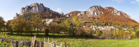 Vrsatec and Vrsatecke Podhradie village - Slovakia Royalty Free Stock Image