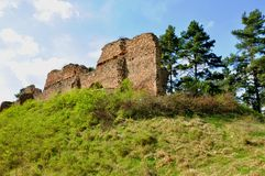 Vrskamyk old castle ruins Royalty Free Stock Photography