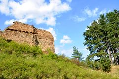 Vrskamyk old castle ruins Stock Image