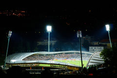 Vrt de Ljudski de stade de football à Maribor Images libres de droits