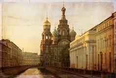 Vårt frälsareHerr blod, St Petersburg, Ryssland Arkivfoton