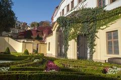 Vrtba Baroque Garden in Prague at Autumn Sunny Day royalty free stock photography