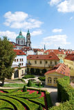 The Vrtba garden in Prague stock image