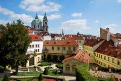 The Vrtba Garden of Prague stock image