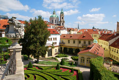 In the Vrtba garden in Prague stock photo