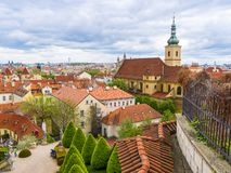 The Vrtba Garden in Prague is one of several fine High Baroque gardens in the Czech capital. royalty free stock photos