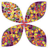 Vruchten abstracte samenstelling, verschillend vruchten pictogram Stock Fotografie