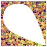 Vruchten abstracte samenstelling, verschillende vruchten pictogramreeks Stock Afbeeldingen