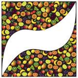Vruchten abstracte samenstelling, verschillende vruchten pictogramreeks, vector i Stock Fotografie