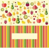 Vruchten achtergrond - Illustratie Royalty-vrije Stock Afbeeldingen
