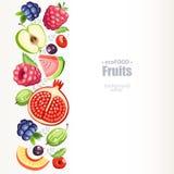 Vruchten achtergrondverticaal Stock Fotografie