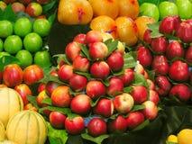 Vruchten bij de markt Stock Foto's
