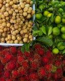 Vruchten bij Thaise Markt Royalty-vrije Stock Fotografie