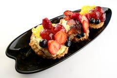 Vruchten cakes Stock Afbeeldingen